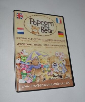 Crafters Companion - Popcorn the bear Digistamps CD-Rom Motive zum ausdrucken
