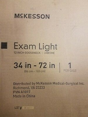 MCKESSON Exam Light 12 inch Gooseneck Chrome, 34in-72in 314