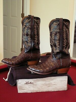 6598db93a31 LUCCHESE CLASSICS HORNBACK Caiman Crocodile Boots Mens 9 EE; excellent  condition