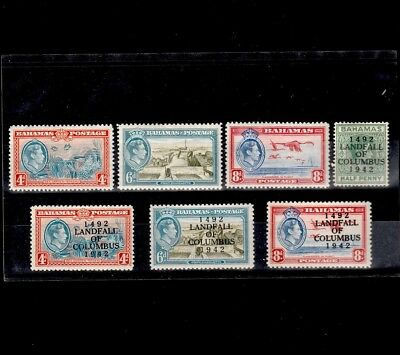 BAHAMAS 1940s SELECTION OF MINT KING GEORGE VI STAMPS (7)