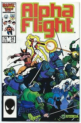 ALPHA FLIGHT #34 May 1986 9.8 NM/MT ORIGIN LADY DEATHSTRYKE MIGNOLA Cover MARVEL
