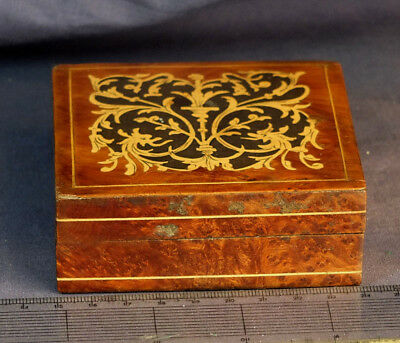 Beautiful Antique Inlayed Wooden Box With Walnut