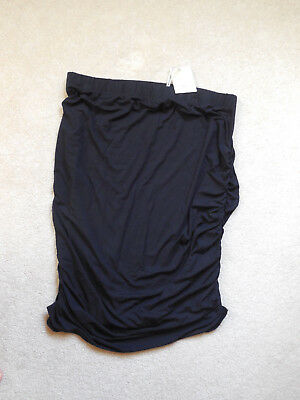 NWT Women's A:Glow Maternity Ruched Stretch Skirt Size X Large Maternity Black