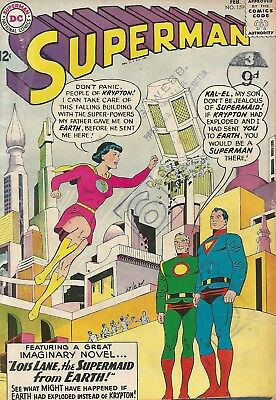 SUPERMAN Lois Lane the Supermaid from Earth DC Comic No. 159 Feb. 1963