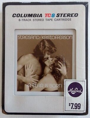 SEALED 1977 A STAR IS BORN 8-Track Soundtrack STREISAND KRISTOFFERSON Columbia