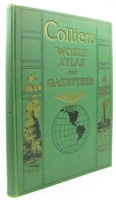 Collier's World Atlas and Gazetteer - Vintage Hardcover 1944