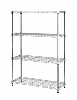 "New 4 Tier Layer Shelf Adjustable Steel Wire Metal Shelving Rack  36""x14""x54"""