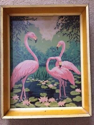 vintage flamingos paint by number