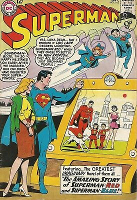 SUPERMAN The Story of Superman-Red & Superman-Blue DC Comic No. 162 July 1963