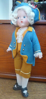 "Vintage Effanbee Revolutionary George Washington Doll 11"" Tall Composition"