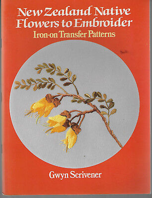 New Zealand Native Flowers to Embroidery Iron-On Transfers Gwyn Scrivener
