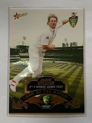Select 2007 Cricket Australia Man Of The Match MTM4 Shane Warne