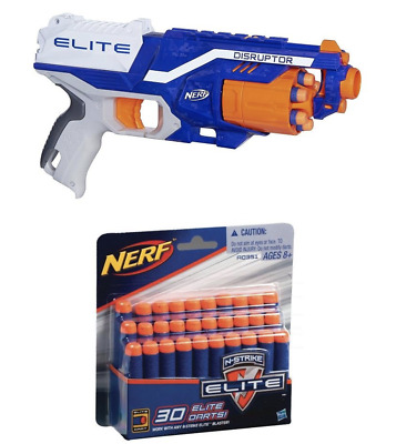 2 NERF Blaster N-Strike Elite Disruptor Toy Soft Fire Rapid Target 72 Darts Gun
