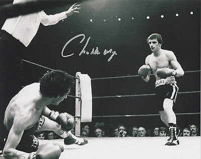 CHARLIE MAGRI Signed 10x8 Photo FLYWEIGHT BOXING Champion COA