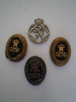 Belgium Army Officers Cap and Cap Boss Badges