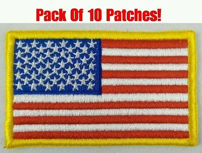American Flag Patch USA Patch United States US Patch Embroidered Iron On Sew On