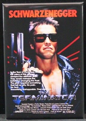 "The Terminator Movie Poster 2"" X 3"" Fridge / Locker Magnet."