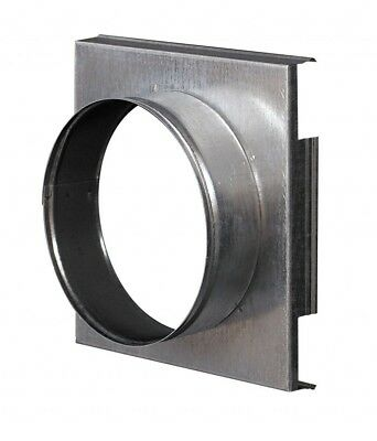 Metal Wall Plate 162mm x 162mm with 100mm Duct Hose Connector Cooker Hood Flange
