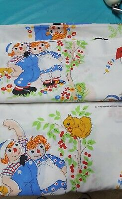 Raggedy Ann And Andy Single Bed Flat Sheet