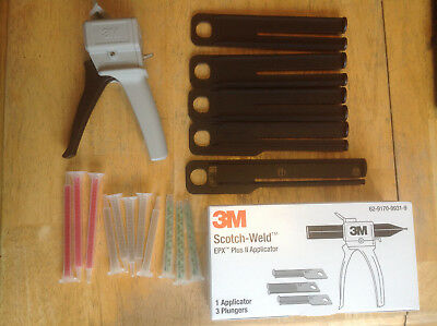 New 3M Scotch-Weld EPX Plus II Manual Applicator w/ 5 Plungers and 3M mix tips