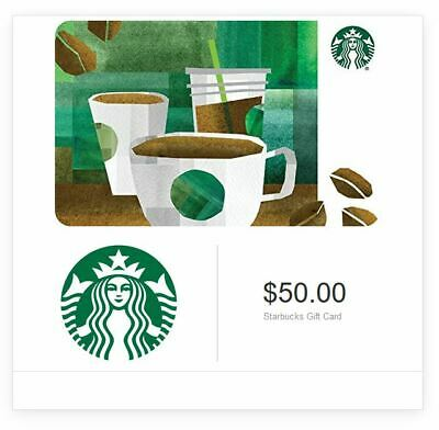 Starbucks $50 Value Gift Card Nationwide – Same day Delivery