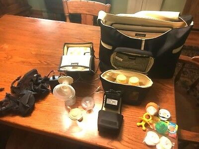 Medela Breast Pump In Style Advancedwith Tote Bag and Accessories