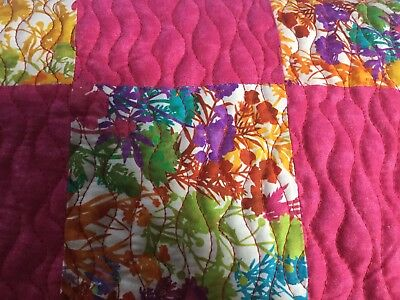 Beautiful Baby Girl Quilt Crib  Blanket Patchwork Pink
