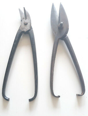 Antique Huge Wrought Iron Scissors Shears Curved Straight