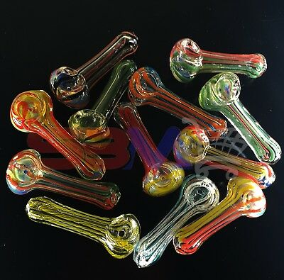 3inch approx.  Collectible TOBACCO Glass Hand Smoking Pipe Bowl Assorted Colors