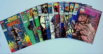 Marvel Comics Presents WeaponX-Complete Run 72-84-White Pages-Collectors Copies