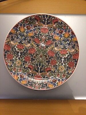 """Dunoon Rose 8""""Plate adapted from William Morris design"""