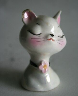 "Cute Vintage Ceramic Girl Cat Salt or Pepper Shaker, about 2.5"" Tall"
