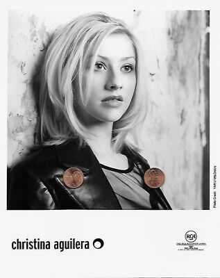 CHRISTINA AGUILERA Original 8x10 Publicity Press Photo Rare Portrait