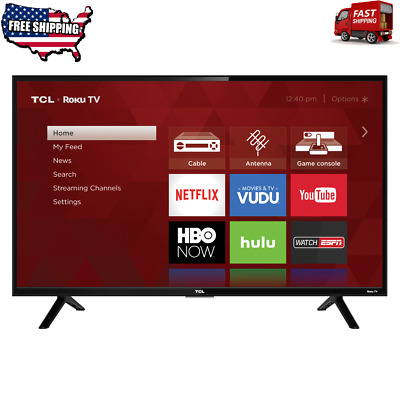 "TCL 32"" Class 720p HD Roku Smart LED TV 32S301 Internet Browsing HDMI Wi-Fi 60Hz"