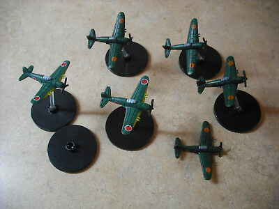 Axis & Allies Japanese Airplanes Wwii Lot Of 6