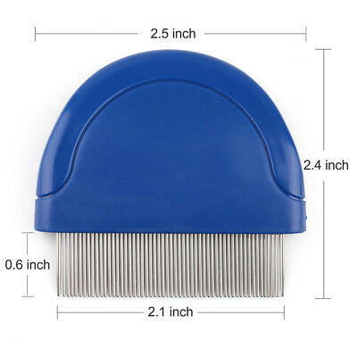 Flea Comb Clean for Dog Cat Pet Puppy Hair Shedding Brush Removal stainless pin