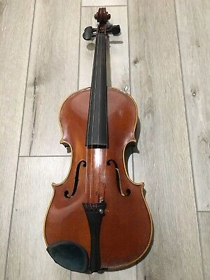 Vintage/ Antique Stradivarius Copy Violin In Case With Tourte Bow, Good Cond