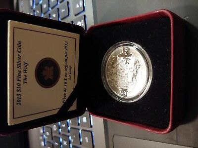 2013 Canada The Wolf Silver Proof $10 Coin
