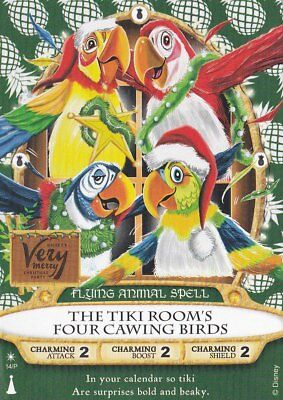 Sorcerers of the Magic Kingdom 2018 Christmas Party Card Tiki Room (A)