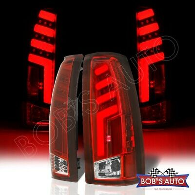 [SPARTAN] Red Clear 3D LED Taillights For 88-98 Chevy Cheyenne Silverado 2500