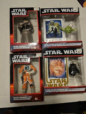 Lot Of 4 Star Wars Kurt Sadler Ornaments Great Christmas Gift
