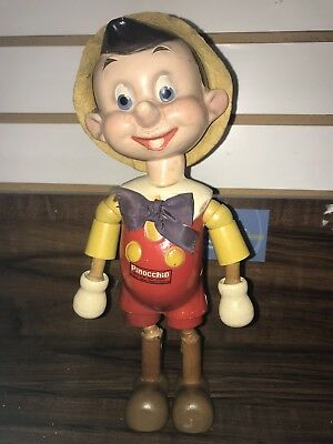 Antique Pinocchio Ideal Novelty & Toy Walt Disney Licensed 1930s Jointed