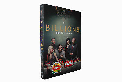 Billions Season Three 3 (DVD, 4-Disc Set) Free Shipping