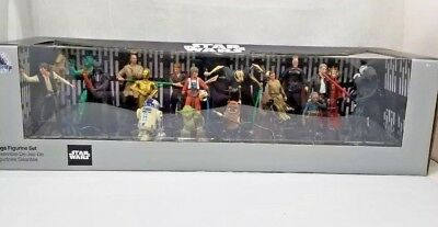 Disney Store Star Wars Mega Figure Playset 20 pc figurine display collect toy