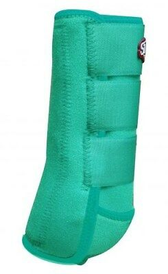 Showman LARGE TEAL Pair of Elite Equine Sport Medicine Boots! NEW HORSE TACK!!