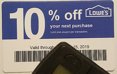 Twenty (20) LOWES Coup0ns 10% OFF At Competitors ONLY notLowes Exp July 15 2019