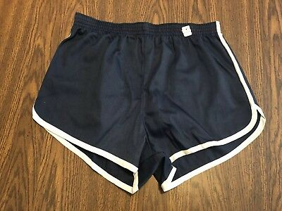 Vintage 1970s WOOLWORTH`S Unisex Navy Blue Shorts Sz Med New Old Stock