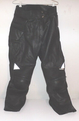FirstGear Size 12 Leather Pants. Great Condition. Armoured.