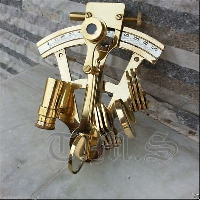 Nautical Working Instrument New Solid Brass Sextant Astrolabe Ship Maritime Gift