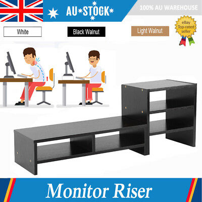3Layer Shelf LED Monitor Stand LCD Computer Monitor Laptop Riser Desktop Bracket